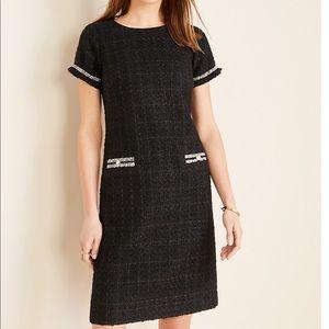 Ann Taylor Tweed Button Dress Size 14 Petite